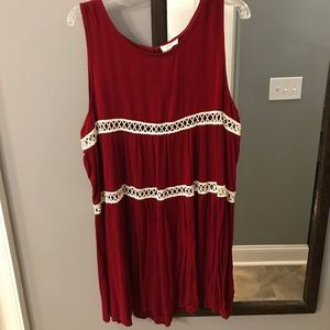 Beautiful red embroidered accent dress